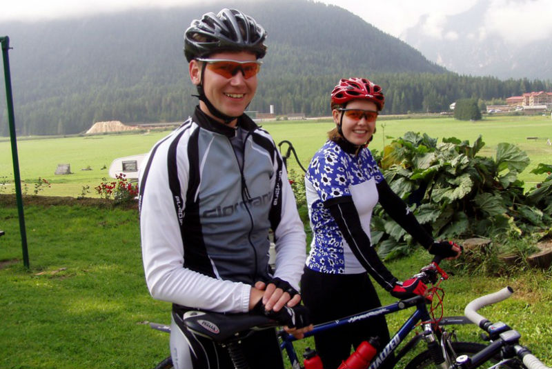 Biking start at Hotel Rosengarten