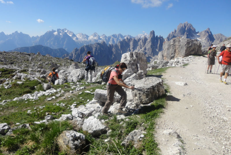 free walking guide to the tree peaks from Hotel Rosengarten, Dobbiaco