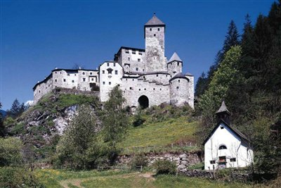 Taufers Castle in Campo Tures in Val Aurina (Tauers im Ahrntal)