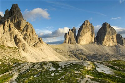 Nature Park Dolomiti  with view to the Tre Peaks