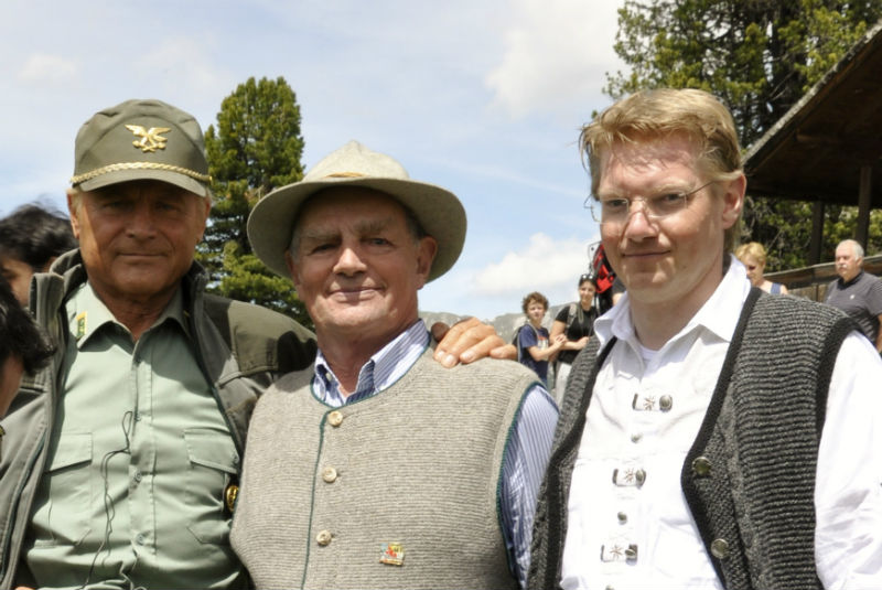 Terence Hill with family Strobl Josef and Strobl Alexander