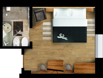 comfort room with marmor sink and design bathroom